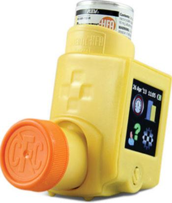 Imagen: El dispositivo SmartTouch para monitorizar los inhaladores (Fotografía cortesía de Nexus6).