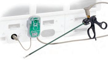 Imagen: El sistema de protección de quemaduras AEM Endoshield (Fotografía cortesía de Encision).