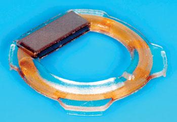 Imagen: El sistema de implante Pro-IOP para la medición de la presión intraocular. (Fotografía cortesía de Productos Oftalmológicos Implandata).