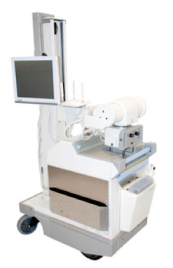 Imagen: La solución para modernización de los DX-D móviles les permitirá a los hospitales aplicar una manera fácil y asequible para actualizar sus sistemas móviles para rayos X de GE Healthcare, AMX 4 y 4 plus existentes, a la radiografía directa (Fotografía cortesía de Agfa HealthCare).