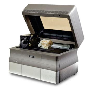 Imagen: La impresora 3-D Objet24 Pro (Fotografía cortesía de Stratasys).