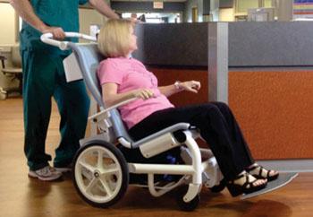 Imagen: La silla de pacientes Movi (Fotografía cortesía de Movi Medical).