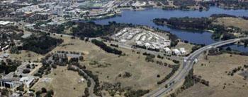 Imagen: Emplazamiento propuesto para el nuevo Hospital Público de la Universidad de Canberra