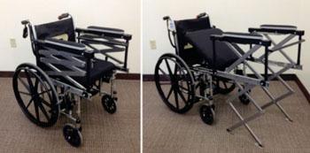 Imagen: El asistente para acceso a las sillas de ruedas (Fotografía cortesía de la Universidad de Purdue).