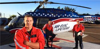 Imagen: Un helicóptero Air Evac Lifeteam Bell 206 Long Ranger (Fotografía cortesía de Air Evac Lifeteam).