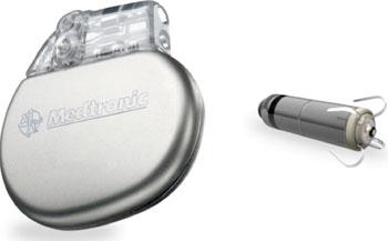 Imagen: El Micra TPS junto a un marcapasos convencional (Fotografía cortesía de Medtronic).