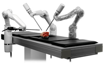 Imagen: El sistema robótico MiroSurge para cirugía a distancia (Fotografía cortesía de DLR).