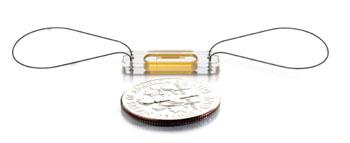 Imagen: El sistema implantable, sin baterías CardioMEMS HF (Fotografía cortesía de CardioMEMS).