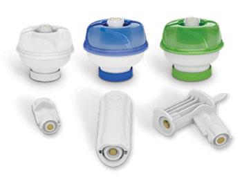 Imagen: El dispositivo de transferencia del Sistema Cerrado Halo (CSTD) (Fotografía cortesía de Corvida Medical).